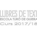 Llibres de text – Curs 17/18